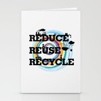 Reduce Reuse Recycle Stationery Cards