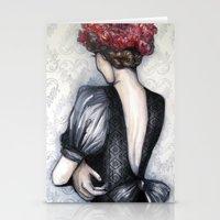 Wallflower // Fashion Illustration Stationery Cards