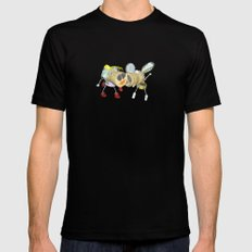 Tipsy Couple Mens Fitted Tee Black SMALL