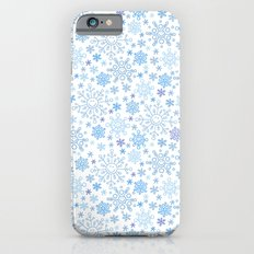 Snowflake Doodle Pattern on the White Backgrount iPhone 6 Slim Case