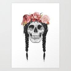Festival skull Art Print