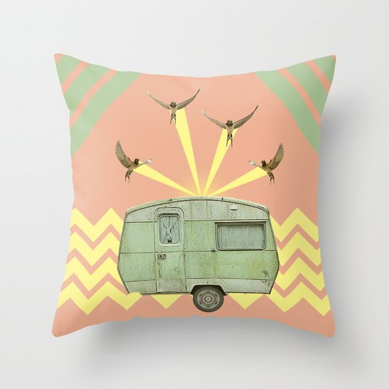 The best way to travel Throw Pillow