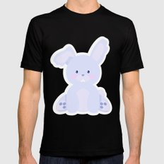 Bunny in country SMALL Mens Fitted Tee Black