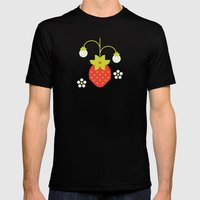 Fruit: Strawberry Mens Fitted Tee Black SMALL