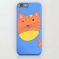 """iPhone & iPod Case featuring """"Cat Self Portrait""""  by Holly Lynn Clark"""