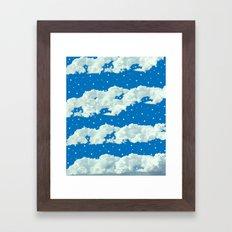 Afternoon Clouds Framed Art Print