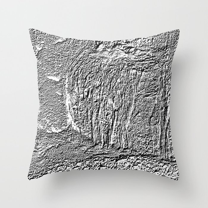 Black and white concrete texture Throw Pillow by Wendy Townrow Society6