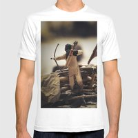 Tom Feiler Bow And Arrow Mens Fitted Tee White SMALL