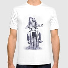 Biker Babes Mens Fitted Tee SMALL White