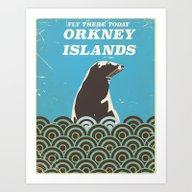 Orkney Islands Vintage T… Art Print