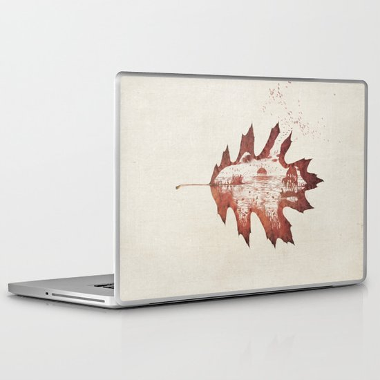Autumn morning Laptop & iPad Skin