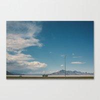 Bonneville Salt Flats Ut… Canvas Print