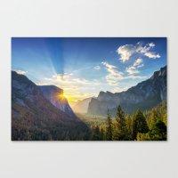 Yosemite Sunburst Canvas Print