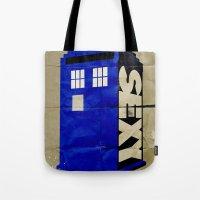 Minimalist Doctor Who  - SEXY TARDIS Tote Bag