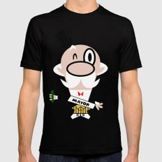 Mayor of Townsville - Powerpuff Girls Mens Fitted Tee Black SMALL