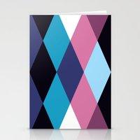 Diamond Pattern 3 Stationery Cards