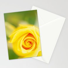 Yellow rose Stationery Cards