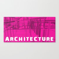 Architecture Pink Canvas Print