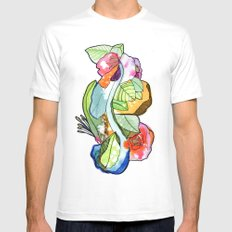 Flower Heart Mens Fitted Tee SMALL White