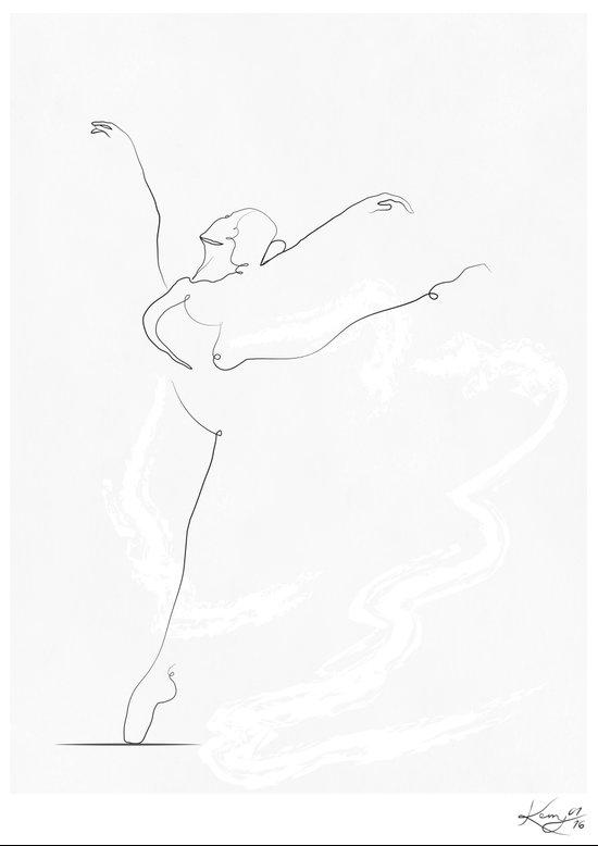 Line Drawing Dancer : Essence dancer line drawing art print by kerry kisbey