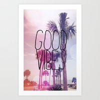 good vibes 2 Art Print