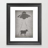 Everybody loves beef Framed Art Print