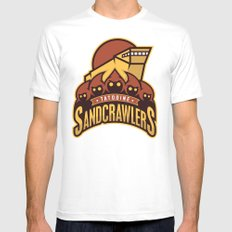 Tatooine SandCrawlers SMALL White Mens Fitted Tee