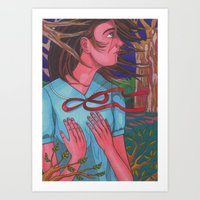 Mysterious Girl Art Print