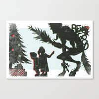 Be Good Krampus Canvas Print