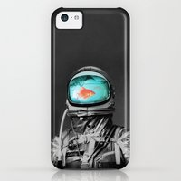 iPhone 5c Cases featuring Underwater astronaut by Budi Kwan