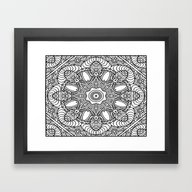 Color Me Mandala 01 Framed Art Print