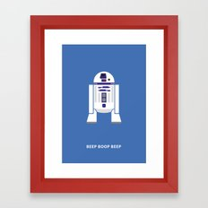 Star Wars Minimalism - R2D2 Framed Art Print