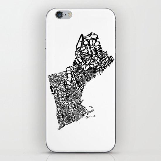 Typographic New England iPhone & iPod Skin