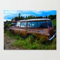 Old Car Resting In A Fie… Canvas Print