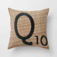Tile Q Throw Pillow
