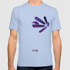 Mass Effect 1 (w/quote) Mens Fitted Tee Athletic Blue SMALL