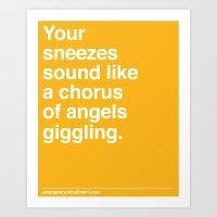 Chorus of Angels Art Print