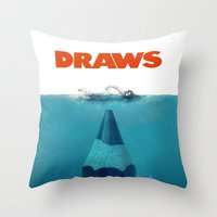 DRAWS Throw Pillow