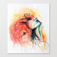 Metamorphosis-Bird of paradise Canvas Print
