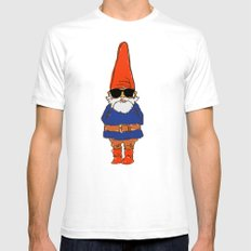 JerGnome Mens Fitted Tee SMALL White