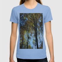 Sky View Womens Fitted Tee Athletic Blue SMALL
