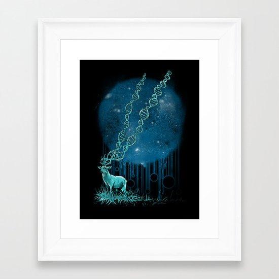 DNA Deer Framed Art Print