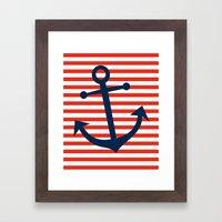 Nautical Anchor Framed Art Print