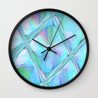 Re-Created  Glass Ceiling VII by Robert S. Lee Wall Clock