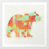 Oh, Hi Bear Art Print