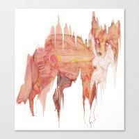 Remix Red Fox Canvas Print
