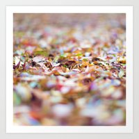 Summer Leaves Abstract Art Print