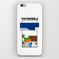 Tetrimals iPhone & iPod Skin