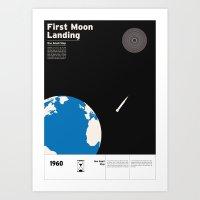 First Moon Landing Apoll… Art Print