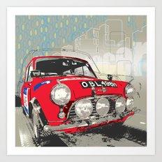 Mini Racer Art Print